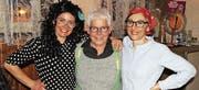 Die drei Geehrten, von links: Katja Bellino, Vreni Kobelt, Cornelia Zünd. (Bild: pd)