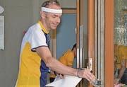 Robert Forrer aus St. Gallen war als Erster am Start. Wenn immer möglich, nimmt er an allen Rheintaler Orientierungsläufen teil.