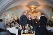 Gastgeber im «Gallusplätzli» sind Oliver Wessiak und Astrid Lorünser. (Bild: Ralph Ribi)