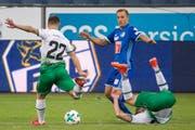 Marco Aratore gelang in Luzern kein Treffer. (Bild: ALEXANDRA WEY (KEYSTONE))