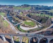 Lütisburg von oben herab. (Bild: Martin Lendi)