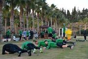 Die St.Galler bringen sich in Andalusien in Form für die Rückrunde. (Bild: Manuel Nagel)