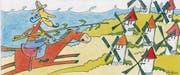 In Altstätten ist es das Schicksal eines Gemeindepräsidenten, Don Quijote zu spielen – einen Mann, der beherzt gegen Windmühlen kämpft. (Bild: Illustration: Patrick Steiger)