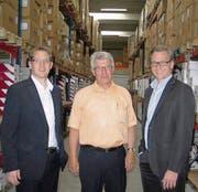 Sind zufrieden: Michael Sieber, Josef Mestka und Christian Sieber. (Bild: pd)