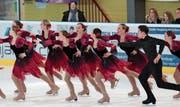 Attraktiv zum Zuschauen: Die Ice Storms am Swiss Cup 2017 (Rang 4.). (Bild: Sabine de la Poza)