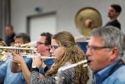 Die Otmarmusik bereitet sich im ehemaligen Gantamt auf den Höhepunkt des Vereinsjahres vor. (Bild: Michel Canonica)