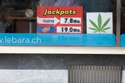 CBD-Blüten werden seit Montag auch am K-Kiosk und in Avec-Filialen verkauft. (KEYSTONE/Gaetan Bally/Archiv)