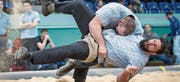 Michael Bless (unten) musste einzig gegen den Innerschweizer Eidgenossen Sven Schurtenberger Verlustpunkte hinnehmen. (Bild: Lorenz Reifler)