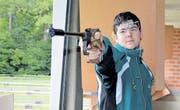 Andreas Riedener aus Untereggen ist der beste Schweizer Nachwuchsschütze mit der Pistole. Er hat grosse Ziele und einen prominenten Vorgänger aus der Ostschweiz. (Bild: pd)