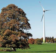 Solche Windkraftwerke wie hier im Jura soll man dort bauen, wo man fürs Energiegesetz gestimmt hat, findet die SVP. (Bild: ky/Peter Klaunzer)