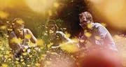 Der Sommer ist da: Christoph Heim, Basil Kehl und Lukas Senn sind Dachs und taufen heute ihre erste EP. (Bild: pd)