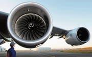 Triebwerke eines Airbus-Superjumbos A380. (Bild: Airbus/Hervé Goussé)