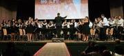 Gala-Stimmung mit der Stadtmusik unter der Leitung von Benjamin Zwick. (Bild: Max Pflüger)