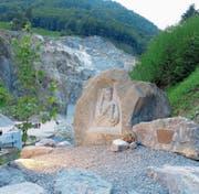 Auch in Stein gemeisselt sorgt die Heilige Barbara für Schutz. (Bild: PD)