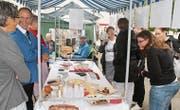 Die Delegation aus Oberbüren präsentierte am letzten Büren-Treffen in Belgien kulinarische Spezialitäten aus dem Fürstenland. (Bild: PD)