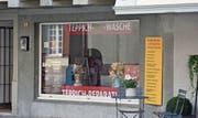 Das Ladenlokal der «Teppichwäscherei» in Rheineck ist seit der Eröffnung verwaist. Auf Post und Anrufe der Redaktion hat der Geschäftsinhaber bis heute nicht reagiert. (Bilder: Kurt Latzer)