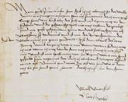 Brief des Appenzeller Landammanns Moritz Gartenhauser an Vadian. (Bild: Vadianische Sammlung der Ortsbürgergemeinde)