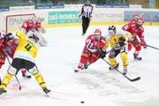 Der HC Thurgau im Spiel gegen die Rapperswil Jona Lakers. (Bild: SPORTS-MEDIA.ch / Alessandro Santarsiero)