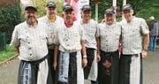 Das Flamtastic-Team Toggenburg war mit den Ergebnissen der Barbecue-Weltmeisterschaften zufrieden. Von links: Rolf Hagen, Thomas Wildberger, Hansruedi van Rijs, Patrick Oberholzer, Peter Reich und Jörg Bleiker. (Bilder: PD)