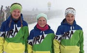 Seraina Schacht, Stefanie Grob und Romina Fritsche wurden ins OSSV-Kader aufgenommen. (Bild: PD)