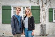 Adrian Mettler und Paula Zimmermann kehrten letzten Monat begeistert von ihrem Austausch in Krakau nach St. Gallen zurück. (Bild: Urs Bucher)