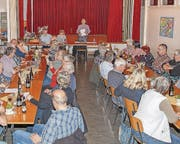 Einmal mehr war die HV gut besucht, was unterstreicht, der Einwohnerverein Lüchingen erfreut sich grosser Beliebtheit. (Bild: pd)