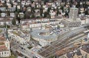 Das Gebiet nördlich des Hauptbahnhofs soll in den kommenden Jahren aufgewertet werden. (Bild: Benjamin Manser und Ralph Ribi)