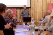 Kontroverse Diskussion: Verwaltungsratspräsident Thomas Grob führte durch die Korporationsversammlung. (Bild: Sascha Erni)