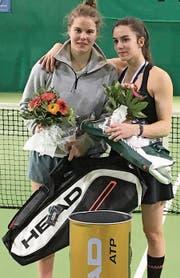 Nina Geissler (links) setzte sich im Final gegen ihre Trainingspartnerin Sylvie Zünd durch. (Bild: pd)