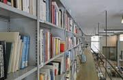 Die Bücher der Kunstbibliothek haben keinen fixen Platz im Regal. (Bild: Trix Niederau)