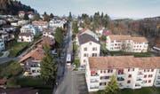 Ob sie zu Wittenbach oder St. Gallen gehören, wissen manchmal nicht einmal die Bewohner der Bruggwaldstrasse selber. (Bild: Ralph Ribi)