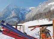 Trotz herrlichen Wetters wurden die Stangen für das Skirennen nicht ausgesteckt. Es war zu kalt. (Bild: Samuel Tanner)