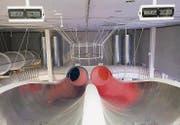 Der «Super-G»: Eine Bahn, bei der immer zwei Personen gleichzeitig starten und sich miteinander messen. (Bild: (Ralph Ribi))
