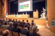 Die Generalversammlung des FC St.Gallen im Fürstenlandsaal. (Bild: Urs Bucher)
