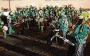 Mit Freude dabei: Die Städtli-Schränzer geniessen ihren Auftritt am Städtli-Monster-Konzert in Lichtensteig. (Bilder: Urs M. Hemm)