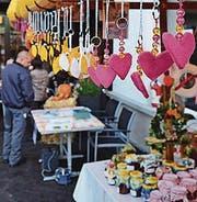 Viel Selbstgemachtes gab's am ersten Herbstmarkt. (Bild: PD)