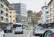 Das Zentrum des Lachen-Quartiers im April 2014. (Bild: Tagblatt-Archiv/Hanspeter Schiess)