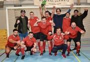 Die zweite Mannschaft aus Wattwil gewann das Turnier in Bazenheid (4./5. Liga) zum dritten Mal in Folge. (Bilder: Beat Lanzendorfer)
