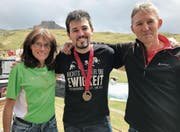 Eine Familie, eine Passion: Helen, Martin und Ralf Zuber (rechts). (Bild: Pascal Berger)