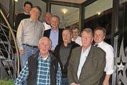 Gründer und Interessenten der Wohnbaugenossenschaft Sidwald (von links): Sergio Siriu, Willi Brülisauer, Kurt Scheiwiller, Rolf Brunner, Heinz Habegger, Roland Kämpf, Willi Dick, Kilian Looser und Bruno Scheiwiller (vorne).