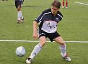 Peter Eugster in einem Vorbereitungsspiel 2004, kurz nach seiner Rückkehr nach Herisau. (Bild: pf)