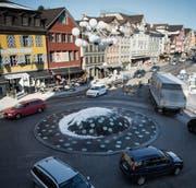 Keine Entlastung fürs Zentrum: Verkehr wird weiterhin über die St. Gallerstrasse geführt. (Bild: Benjamin Manser)