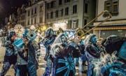Morgen Samstag ist wieder Nachtumzug in Gossau. Diesmal mit 17 Guggenmusiken. (Bild: Michel Canonica (1. Februar 2012))