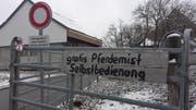 Pferdemist gratis abzugeben: Peter Ammann aus Schwarzenbach ist noch so froh um dankbare Abnehmer. (Bild: Angelina Donati)