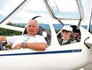 Die Bronzemedaillengewinner im Cockpit: Guido Halter und seine Gattin Susi als Co-Pilotin. (Bild: pd)