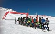 Ob die Herren der Fitness-Riege auch so perfekt Ski gefahren sind, wie sie in der Reihe stehen? (Bild: PD)