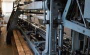 Hans Bürklers Schifflistickmaschine mit Jahrgang 1911 war von 1912 bis vor zwei Jahren in Betrieb. (Bild: Sabrina Stübi)