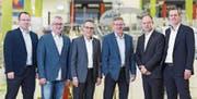 Die verjüngte Spitze der K+D (von links): Velibor Dragosav, René Koller, Verwaltungsratspräsident und Alleinaktionär Stefan Kuhn, Ruedi Kobelt, Ivo Kassel und Markus Naegeli. (Bild: PD)