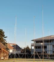 An der Gässelistrasse 34/36/38 in Widnau stehen die Visiere bereits etwas länger. Hier sollen drei Mehrfamilienhäuser gebaut werden. Eine erste Projektänderung erfolgte im September. (Bild: acp)