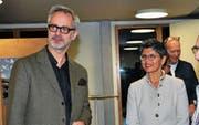 Viel Lob ernteten die Herausgeber Joshua Loher und Sarah Peter Vogt aus Balgach. (Bild: René Jann)